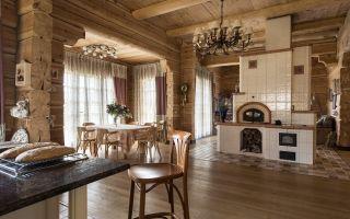 Русская печь в интерьере: дизайн деревянного дома