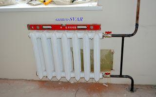 Установка чугунных радиаторов отопления: инструменты и монтаж