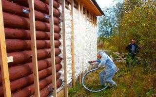 Утепление бревенчатого дома снаружи и изнутри
