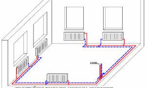 Двухтрубная система отопления частного дома своими руками: схема (фото и видео)