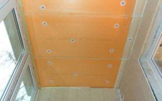 Утепление потолка лоджии и балкона: материалы, инструменты