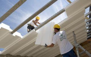 Применение пенопласта при строительстве
