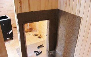 Теплоизоляция печи для бани и сауны