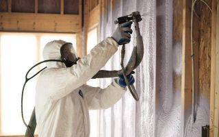 Напыляемый пенополиуретан: новая технология утепления зданий