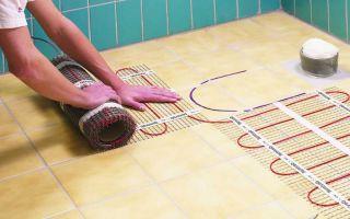 Теплый пол на стену: вариант для ванной