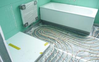 Отопление в ванной комнате: устройство и монтаж