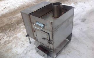 Печь для бани из металла своими руками (фото и видео)