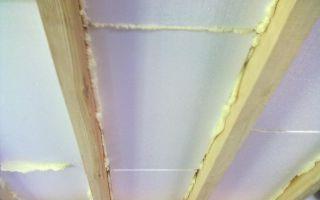 Утепление потолка пенопластом изнутри своими руками: схемы (видео)