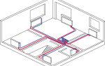 Горизонтальная разводка системы отопления квартир