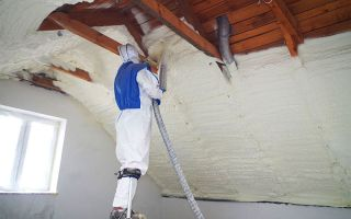 Утепление крыши пеной при использовании пенополиуретана