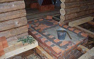Фундамент для печи в баню своими руками (фото)