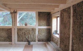 Утепление соломой дома