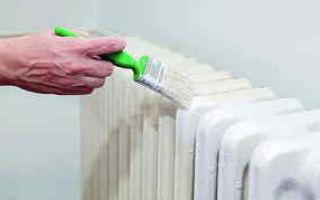 Покраска батарей своими руками: инструменты и материалы