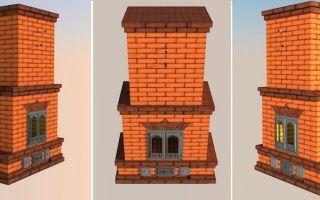 Печи-камины из кирпича: варианты конструкций