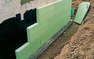 Утепление полистиролом стен и фундамента