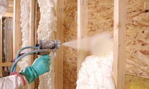 Утепление стен пеной: преимущества и недостатки, виды пены