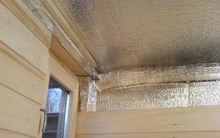 Утеплитель для потолка бани, пароизоляция