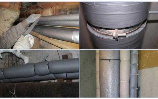 Утепление труб водоснабжения на даче: выбор материала, установка