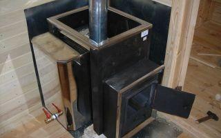Установка печей в баню: выбор и монтаж конструкции