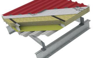 Утеплитель под профнастил: теплоизоляция крыши