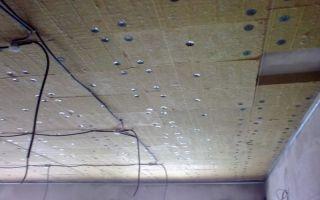 Крепление утеплителя к потолку: сделать своими руками