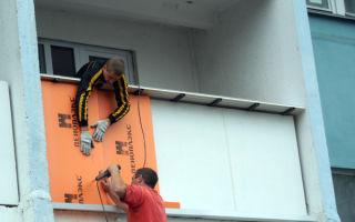 Утепление балкона снаружи: процесс