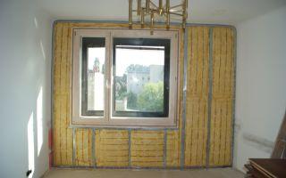 Утепление стен поможет сберечь тепло внутри жилых помещений