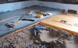 Утепление бетонного пола: методы, основные этапы