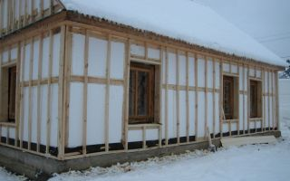 Утепление деревянного дома пенопластом, утепление стен