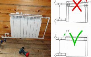 Как правильно установить батарею отопления